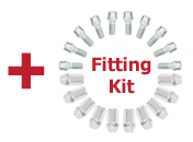 Free fitting kit with every set of Alloys