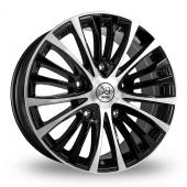 Image for BK_Racing 191 Black_Polished Alloy Wheels