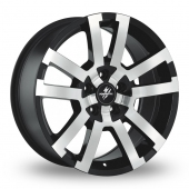 Image for Fondmetal 7700-1 Black_Polished Alloy Wheels