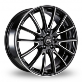 Image for MSW_(by_OZ) 86 Black_Polished Alloy Wheels