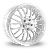 Image for BK_Racing 866 Silver Alloy Wheels
