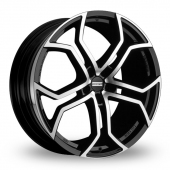 Image for Fondmetal 9XR Black_Polished Alloy Wheels