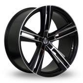 Image for Axe EX21_Wider_Rear Black_Polished Alloy Wheels