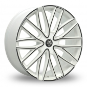Image for Wolfrace Wolf_Design_GTP White_Black Alloy Wheels