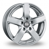 Image for MSW_(by_OZ) 55 Silver Alloy Wheels
