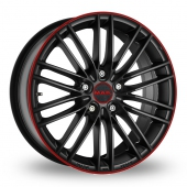 Image for MAK Rapide Black_Red Alloy Wheels