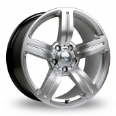 Image for Riva MSX Silver Alloy Wheels