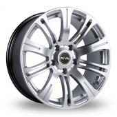 Image for Riva MVR Silver Alloy Wheels