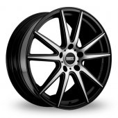 Image for Fondmetal STC-10 Black_Polished Alloy Wheels