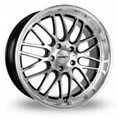Image for Calibre Spur_5x120_Wider_Rear Black_Polished Alloy Wheels