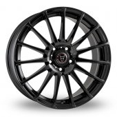 Image for Wolfrace Turismo Black Alloy Wheels