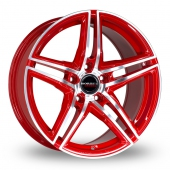 Image for Borbet XRT Red Alloy Wheels
