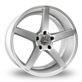 Image for ZCW V5_5x120_Wider_Rear Silver Alloy Wheels