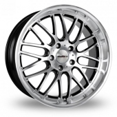 Image for Calibre Spur_5x120_Low_Wider_Rear Black_Polished Alloy Wheels