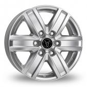 Image for Wolfrace TP6 Silver Alloy Wheels