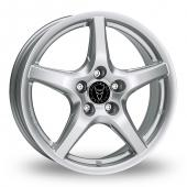 Image for Wolfrace U1 Silver Alloy Wheels