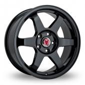 Image for Wolfrace Asia-Tec_JDM Black Alloy Wheels