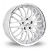 Image for BK_Racing 866 White Alloy Wheels