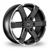 Image for MSW_(by_OZ) 46 Matt_Black Alloy Wheels