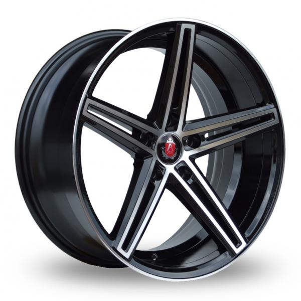 Zoom Axe EX14_5x112_Wider_Rear Black_Polished Alloys