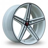 Image for Axe EX14_5x112_Wider_Rear White_Black Alloy Wheels