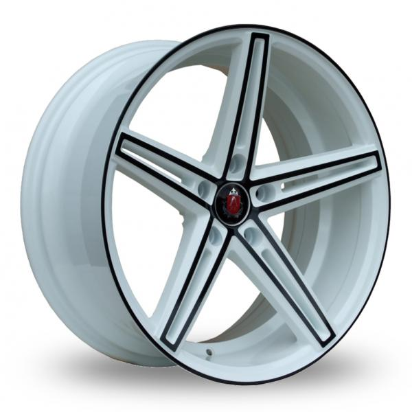 Zoom Axe EX14_5x112_Wider_Rear White_Black Alloys