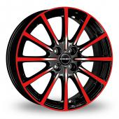 Image for Borbet BL4 Black_Red Alloy Wheels