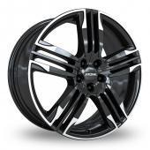 Image for Ronal R58 Black_White Alloy Wheels