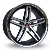 Image for Axe Ex_Stainless_5x114_Wider_Rear Black_Polished Alloy Wheels