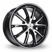 Image for BK_Racing 201 Black_Polished Alloy Wheels