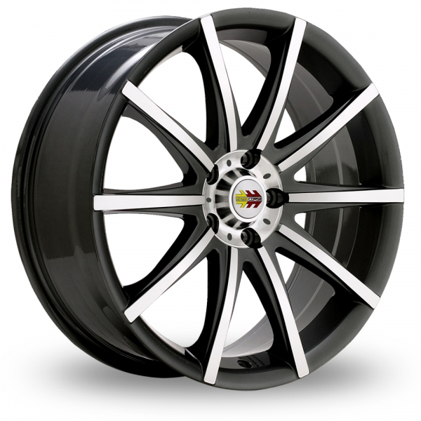 Picture of 16 Inch Momo Ten-S Black Alloy Wheels