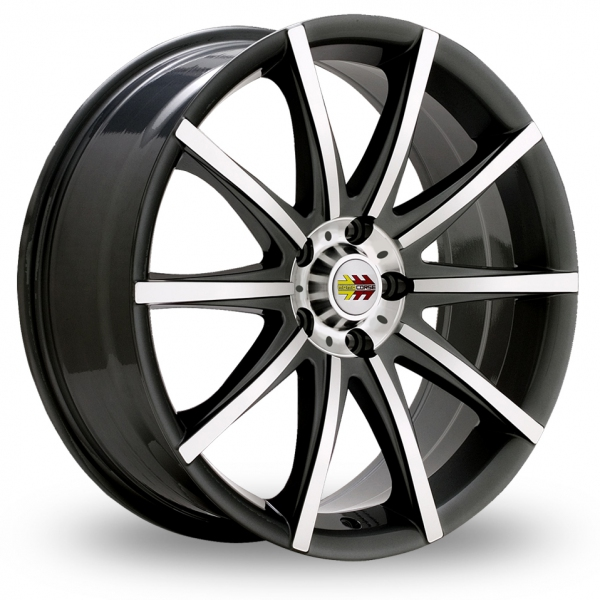 Picture of 17 Inch Momo Ten-S Black Alloy Wheels