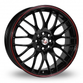 Image for Calibre Motion_2 Black_Red Alloy Wheels