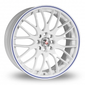 Image for Calibre Motion_2 White_Blue Alloy Wheels