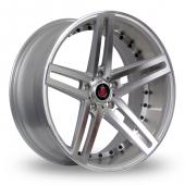 Image for Axe EX20_5x120_Low_Wider_Rear Silver_Polished Alloy Wheels