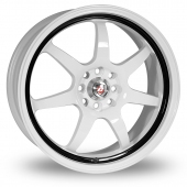 Image for Calibre Pro_7 Black_White Alloy Wheels