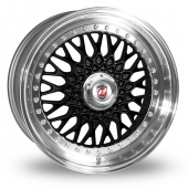 Image for Calibre Vintage_Wider_Rear Black Alloy Wheels