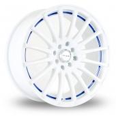 Image for Dare GTR White_Blue Alloy Wheels