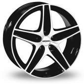 Image for Ronal R48 Black_Polished Alloy Wheels