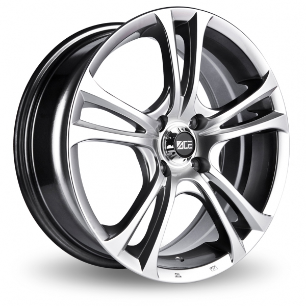 "Picture of 18"" Ace 205 Hyper Black Alloy Wheels"