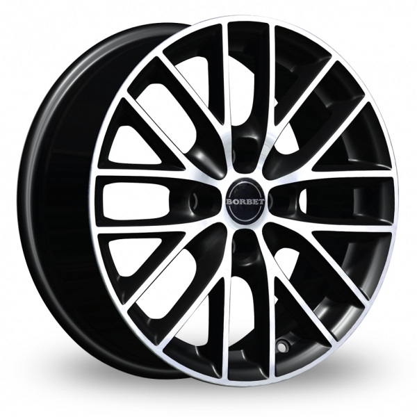 Zoom Borbet BS4 Black_Polished Alloys