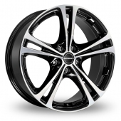 Image for Borbet XL Black_Polished Alloy Wheels