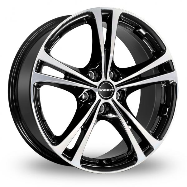 Zoom Borbet XL Black_Polished Alloys
