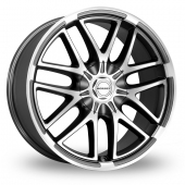 Image for Borbet XA Anthracite_Polished Alloy Wheels