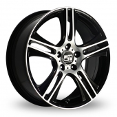Image for MSW_(by_OZ) 11 Black_Polished Alloy Wheels