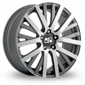 Image for MSW_(by_OZ) 18 Gun_Metal_Polished Alloy Wheels