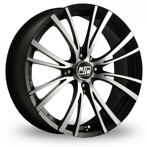 Picture of 15 Inch MSW 20 4 Stud Black Alloy Wheels
