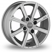 Image for OZ_Racing Lounge_8 Silver_Polished Alloy Wheels