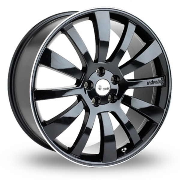 Picture of 22 Inch Hawke Individual ID One Black Alloy Wheels