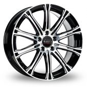 Image for CW_(by_Borbet) CW1 Black_Polished Alloy Wheels